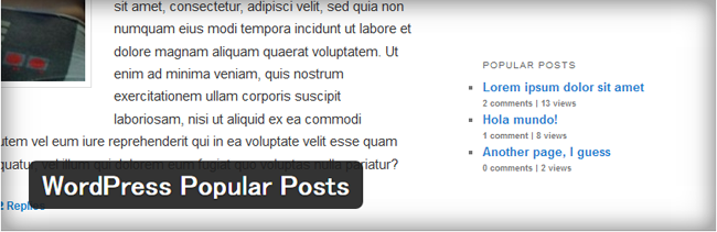 WordPress Popular Posts02
