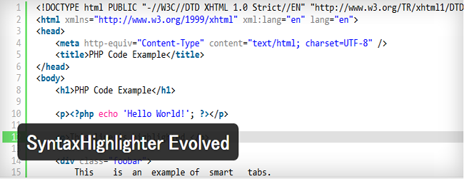 SyntaxHighlighter Evolved01
