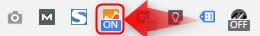 Page Analiticsブラウザ上のボタン