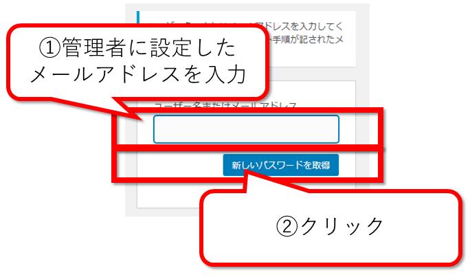 WordPressの管理画面でパスワードを再設定する為にメール送信
